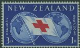 NZ SG775 3d + 1d Red Cross Commemoration